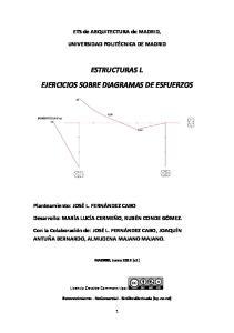 ESTRUCTURAS I. EJERCICIOS SOBRE DIAGRAMAS DE ESFUERZOS