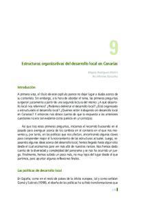 Estructuras organizativas del desarrollo local en Canarias