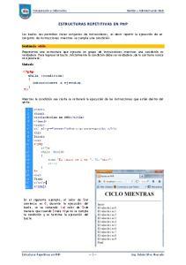 ESTRUCTURAS REPETITIVAS EN PHP