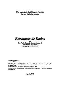 Estruturas de Dados por Dr. Paulo Roberto Gomes Luzzardi