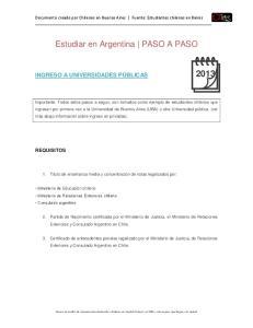 Estudiar en Argentina PASO A PASO