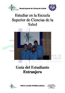 Estudiar en la Escuela Superior de Ciencias de la Salud