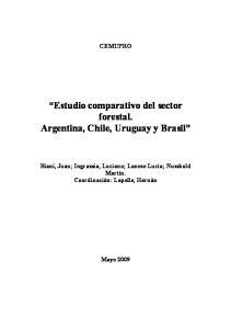 Estudio comparativo del sector forestal. Argentina, Chile, Uruguay y Brasil