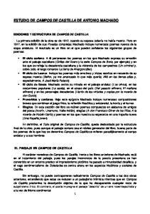ESTUDIO DE CAMPOS DE CASTILLA DE ANTONIO MACHADO