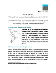 ESTUDIO DE CASO Vida rural y auto sustentabilidad en la historia de vida de Aida Cid