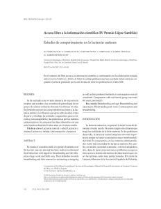 Estudio de comportamiento en la lactancia materna