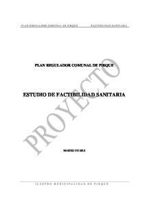 ESTUDIO DE FACTIBILIDAD SANITARIA