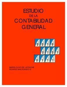 ESTUDIO DE LA CONTABILIDAD GENERAL