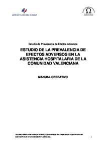 ESTUDIO DE LA PREVALENCIA DE EFECTOS ADVERSOS EN LA ASISTENCIA HOSPITALARIA DE LA COMUNIDAD VALENCIANA