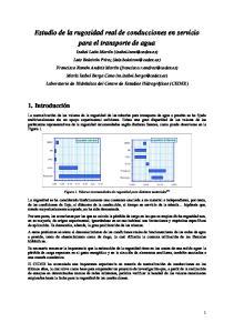 Estudio de la rugosidad real de conducciones en servicio para el transporte de agua