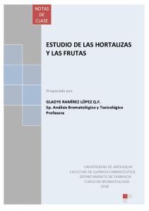 ESTUDIO DE LAS HORTALIZAS Y LAS FRUTAS