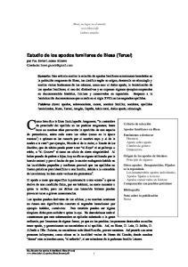 Estudio de los apodos familiares de Blesa (Teruel)