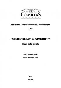 ESTUDIO DE LOS COMMODITIES