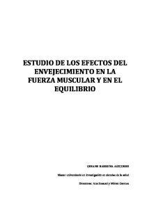 ESTUDIO DE LOS EFECTOS DEL ENVEJECIMIENTO EN LA FUERZA MUSCULAR Y EN EL EQUILIBRIO