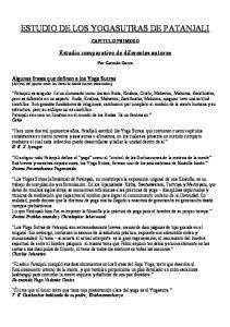 ESTUDIO DE LOS YOGASUTRAS DE PATANJALI