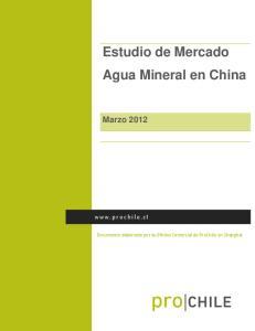 Estudio de Mercado Agua Mineral en China