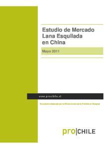 Estudio de Mercado Lana Esquilada en China