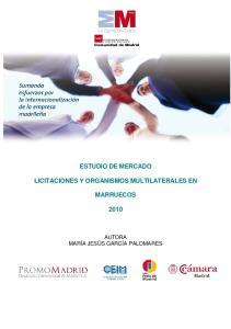 ESTUDIO DE MERCADO LICITACIONES Y ORGANISMOS MULTILATERALES EN MARRUECOS