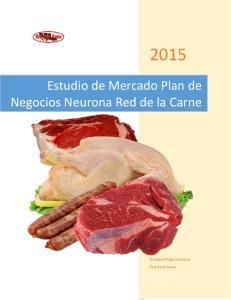 Estudio de Mercado Plan de Negocios Neurona Red de la Carne