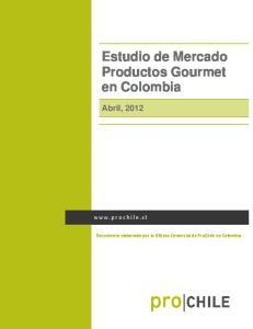 Estudio de Mercado Productos Gourmet en Colombia