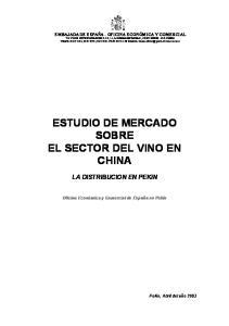 ESTUDIO DE MERCADO SOBRE EL SECTOR DEL VINO EN CHINA