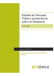 Estudio de Mercado Tubos y accesorios de cobre en Honduras