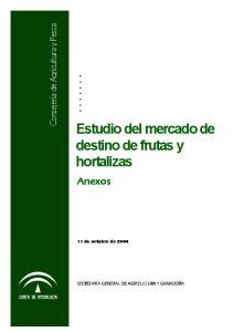 Estudio del mercado de destino de frutas y hortalizas