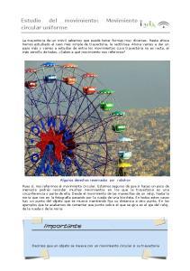 Estudio del movimiento: Movimiento circular uniforme