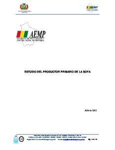 ESTUDIO DEL PRODUCTOR PRIMARIO DE LA SOYA