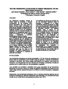 ESTUDIO DIAGNOSTICO DE FACTORES DE RIESGO PSICOSOCIAL EN UNA INSTITUCION EDUCATIVA