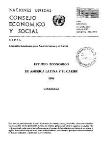 ESTUDIO ECONOMICO DE AMERICA LATINA Y EL CARIBE VENEZUELA