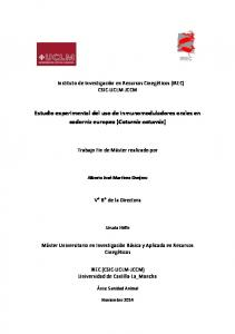 Estudio experimental del uso de inmunomoduladores orales en codorniz europea (Coturnix coturnix)
