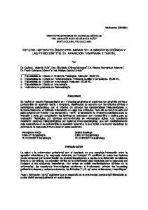 ESTUDIO HISTOPATOLÓGICO PRELIMINAR DE LA GINGIVITIS CRÓNICA Y LAS PERIODONTITIS DE APARICIÓN TEMPRANA Y TARDÍA. Resumen