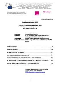 Estudio postelectoral 2014 ELECCIONES EUROPEAS DE 2014