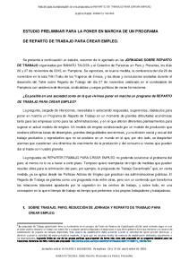 ESTUDIO PRELIMINAR PARA LA PONER EN MARCHA DE UN PROGRAMA
