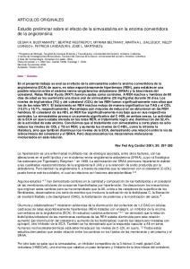 Estudio preliminar sobre el efecto de la simvastatina en la enzima convertidora de la angiotensina