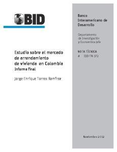 Estudio sobre el mercado de arrendamiento de vivienda en Colombia