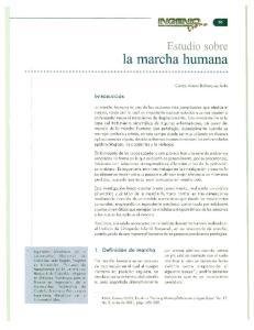 Estudio sobre la marcha humana