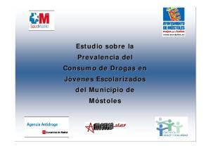 Estudio sobre la Prevalencia del Consumo de Drogas en Jóvenes Escolarizados del Municipio de Móstoles