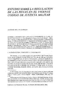 ESTUDIO SOBRE LA REGULACION DE LAS PENAS EN EL VIGENTE CODIGO DE JUSTICIA MILITAR