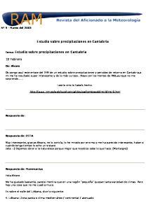 Estudio sobre precipitaciones en Cantabria
