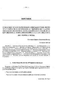 ESTUDIOS 1. FUNCIONES DE LOS SECRETARIOS JUDICIALES