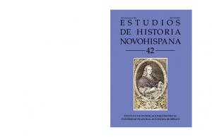 ESTUDIOS DE H I STO R I A NOVOHISPANA