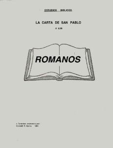 ESTUDIOS LA CARTA DE SAN PABLO A LOS ROMANOS INTRODUCCION