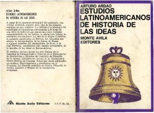 ESTUDIOS LATINOAMERICANOS DE HISTORIA DE LAS IDEAS MONTE AVILA EDITORES
