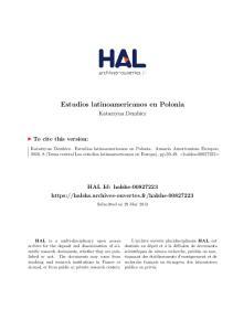 Estudios latinoamericanos en Polonia