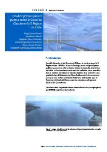 Estudios previos para el puente sobre el Canal de Chacao en la X Region de Chile