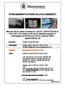 ETABLISSEMENTS STARCK SA (FAILLISSEMENT)