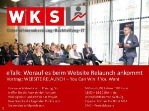 etalk: Worauf es beim Website Relaunch ankommt