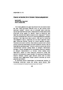 Etanol ve Santral Sinir Sistemi Nöromediyatörleri